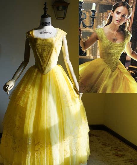 Beauty and the Beast 2017 Movie Cosplay, Belle Yellow Ball