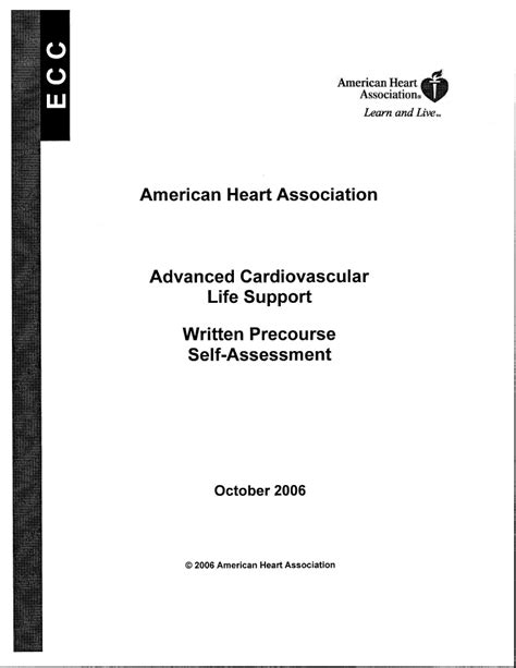 Acls prestudy packet