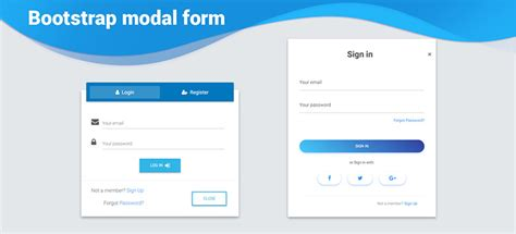 Angular Modal Forms - Bootstrap 4 & Material Design