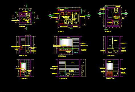 Residential Bathroom--Construction Details DWG Section for