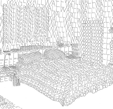 Illustrations Of Rooms Drawn With Words Describing The