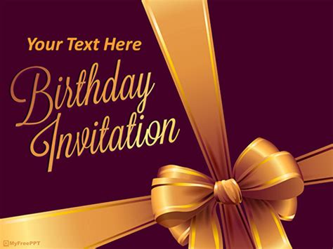 Free Birthday Invitation PowerPoint Template - Download