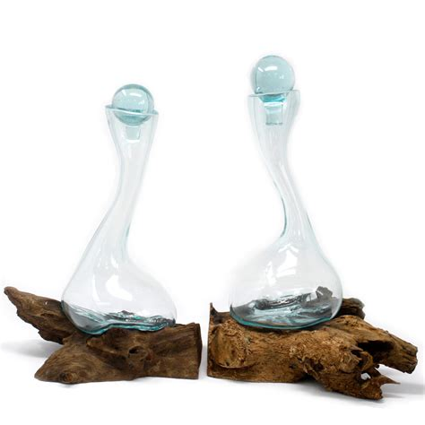 Molten Glass on Wood - Wine Decanter - AW Dropship - Your