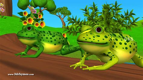 Five little Speckled Frogs - 3D Animation English Nursery