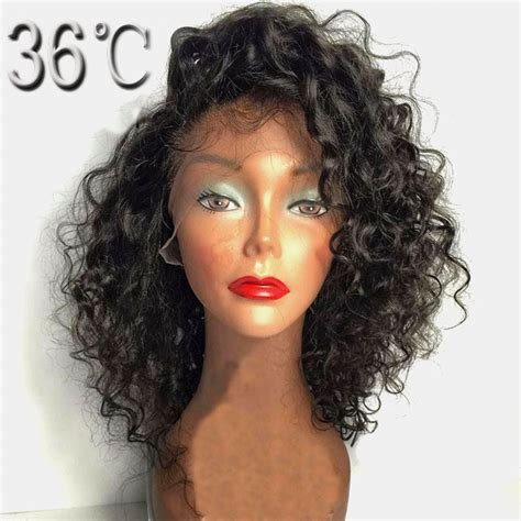 PAFF curly glueless full lace wig remy hair Malaysian side