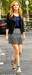 Bella Thorne looks cute in mini-skirt for Candie's photo