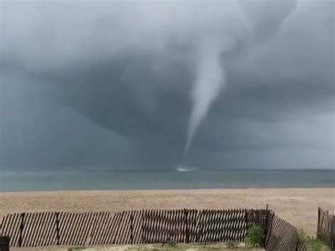 Incredible Waterspout Appears In Jersey Shore Video