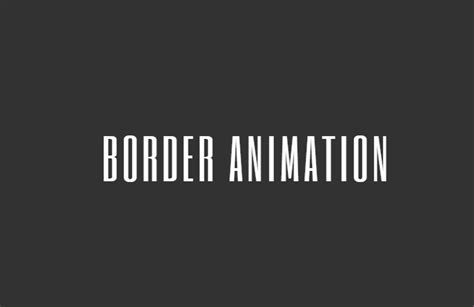 CSS only border animation on hover