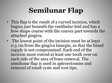 Flaps in oral surgery