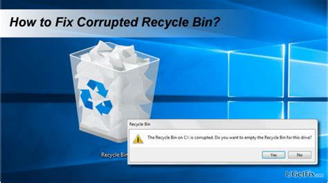 """How to Fix """"The Recycle Bin on C:/ is corrupted"""" Error on"""