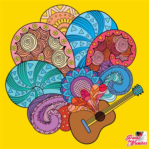 Pin by Ruthie on Paint by Numbers   Music art, Colorful
