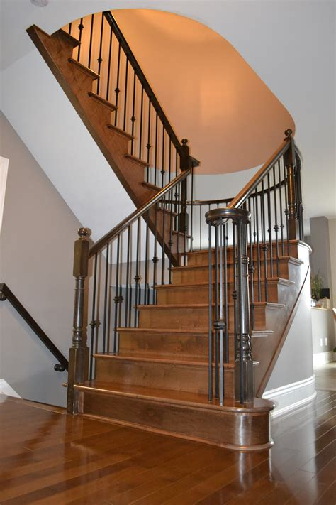 Stairs and Railings – Hardwood flooring and staircase