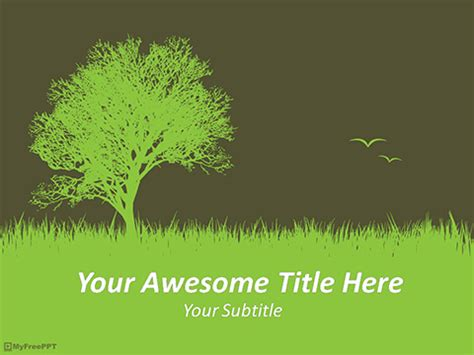 Free Nature Environment PowerPoint Template - Download