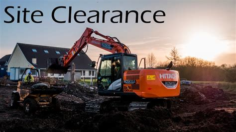 Site Clearance on Building site - YouTube