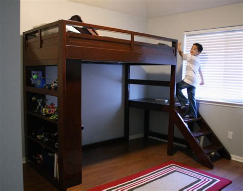 Ana White   Camp Loft Bed w/ Stairs - DIY Projects