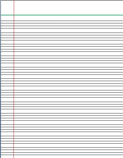 Writing Paper Template - Word Templates