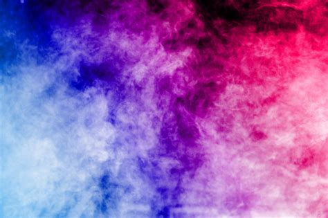 Abstract color smoke clouds